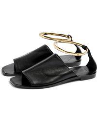 TOPSHOP Flora Anklet Sandal - Black