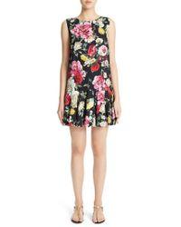 Dolce & Gabbana - Floral Print Drop Waist Dress - Lyst