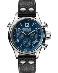 INGERSOLL WATCHES - Ingersoll Chronograph Leather Strap Watch - Lyst