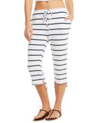 Chaser - Love Knit Crop Pajama Pants - Lyst
