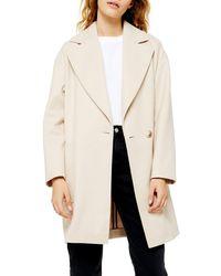 TOPSHOP Carly Coat - Natural