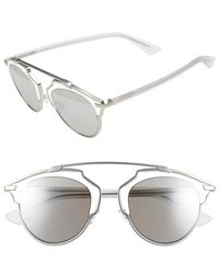 Dior - So Real 48mm Round Brow Bar Sunglasses - Lyst
