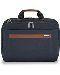 Briggs & Riley Medium Expandable Briefcase - Blue