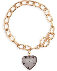 BP. Resin Heart Toggle Bracelet - Metallic