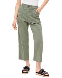 Mother The Patch Pocket Frayed Ankle Military Pants - Green