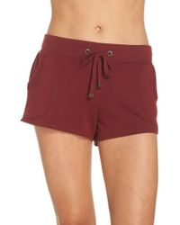 Make + Model Down To The Details Lounge Shorts - Red
