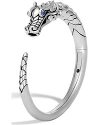 John Hardy - Legends Naga Cuff Bracelet With Sapphires - Lyst