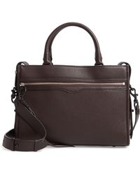 Rebecca Minkoff Bedford Zip Leather Satchel - Brown