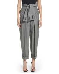 Alexander Wang | Tie Waist Tapered Trousers | Lyst