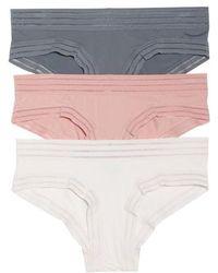 Honeydew Intimates - Micki 3-pack Hipster Panties, Pink - Lyst