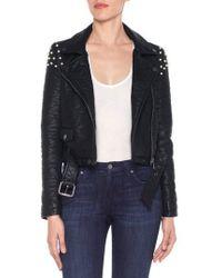 Joe's - Taylor Embellished Faux Leather Moto Jacket - Lyst
