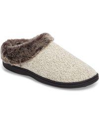 Acorn - Chinchilla Faux Fur Slipper - Lyst