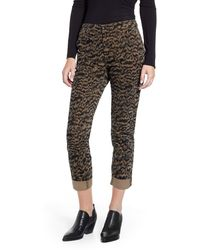 AG Jeans Caden Print Ankle Twill Pants - Black
