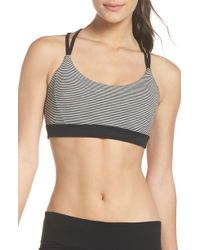 Zella - So Hot Stripe Sports Bra - Lyst