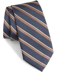 Calibrate Fillmore Stripe Silk Tie - Blue
