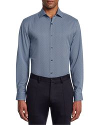 W.r.k. - Trim Fit Mini Dot Performance Dress Shirt - Lyst