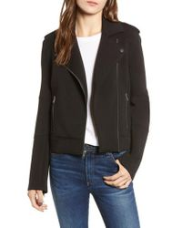 Cupcakes And Cashmere - Harlei Scuba Moto Jacket - Lyst