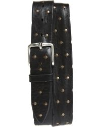 Orciani - Wax Studded Leather Belt - Lyst