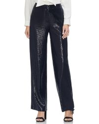 Vince Camuto - Allover Sequin Wide Leg Pants - Lyst