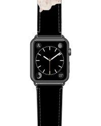 Casetify Sweet Pea Saffiano Faux Leather Apple Watch Strap - Black