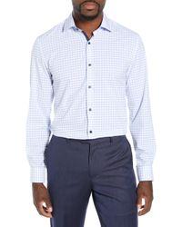 W.r.k. Slim Fit Performance Stretch Check Dress Shirt - White