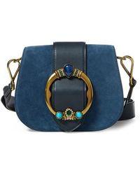 Polo Ralph Lauren   Lennox Suede & Leather Saddle Bag   Lyst