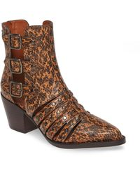 COACH Phoebe Studded Open Bootie - Brown
