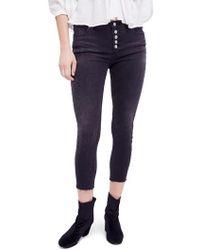 Free People - Reagan Crop Skinny Jeans - Lyst