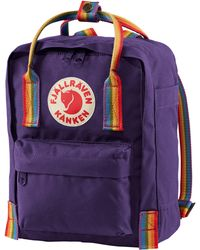 Fjallraven Fjällräven Mini Kånken Rainbow Water Resistant 13-inch Laptop Backpack - Purple