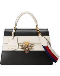 Gucci - Queen Margaret Top Handle Leather Satchel - Lyst