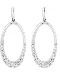 CARRIERE JEWELRY - Carriere Large Diamond Open Oval Drop Earrings (nordstrom Exclusive) - Lyst