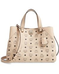 d2e676c7d05 MCM 'medium Kathy Visetos' Tote in Brown - Lyst
