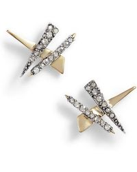 Alexis Bittar - Crisscross Shard Earrings - Lyst