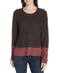 Eileen Fisher - Colorblock Lyocell & Silk Sweater - Lyst