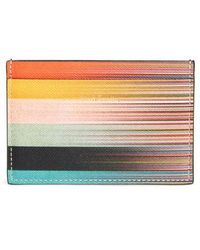 Paul Smith - Artist Stripe Leather Card Case - Lyst