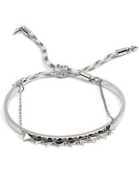 Rebecca Minkoff | Ellie Layered Triangle Bracelet | Lyst