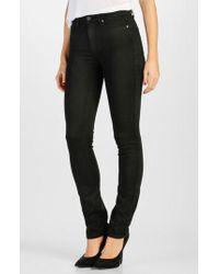 PAIGE - Transcend - Hoxton High Waist Straight Leg Jeans - Lyst