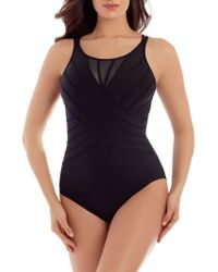Miraclesuit - Miraclesuit Illusionists Bandwidth One-piece Swimsuit - Lyst