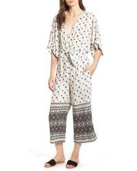 Splendid - Desert Batik Print Tie Waist Jumpsuit - Lyst
