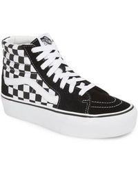 Vans - Sk8-hi Checkerboard Sneakers - Lyst