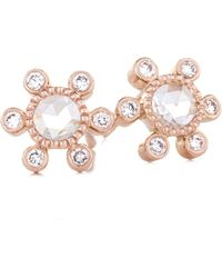 Sethi Couture - Round Rose Cut Diamond Earrings - Lyst