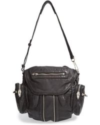 Alexander Wang   Mini Marti Backpack In Washed Black With Rose Gold   Lyst