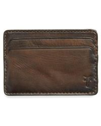 Frye | Oliver Leather Card Case | Lyst
