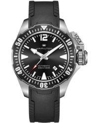 Hamilton - Khaki Navy Frogman Automatic Silicone Strap Watch - Lyst