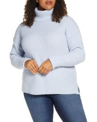 Caslon Caslon Turtleneck Sweater - Blue