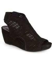 Vaneli 'Inez' Wedge Sandal - Black