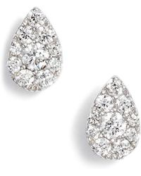 Bony Levy - Diamond Pave Pear Stud Earrings (nordstrom Exclusive) - Lyst