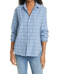 Frank & Eileen Eileen Plaid Flannel Button-up Shirt - Blue