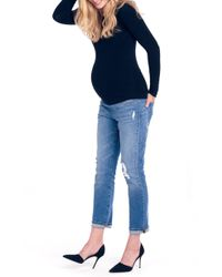 Ingrid & Isabel - Ingrid & Isabel Mia Maternity Boyfriend Jeans - Lyst