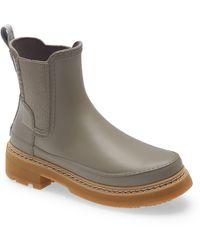 HUNTER Refined Stitch Waterproof Chelsea Boot - Grey